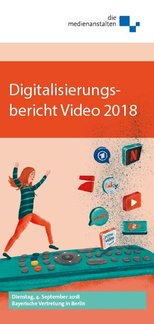 Cover des Flyers Digitalisierungsbericht Video 2018